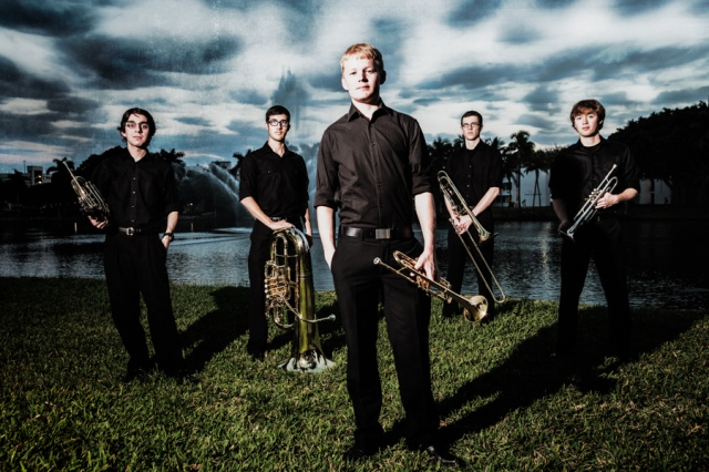 Stamps Brass Quintet at the Frost School of Music